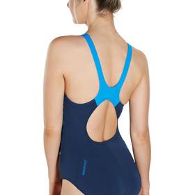speedo Boom Splice Muscleback Strój kąpielowy Kobiety niebieski